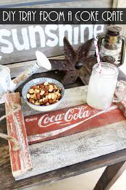 diy tray diy tray from an old coke crate the country chic cottage