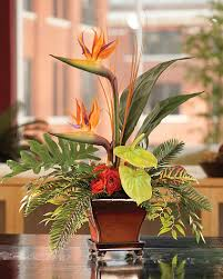 Faux Floral Centerpieces by Bird Of Paradise Floral Arrangements Silk Floral Designs