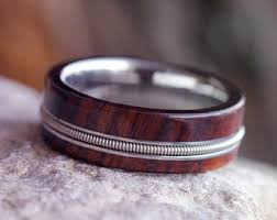 mens wooden wedding bands mens wood wedding band etsy