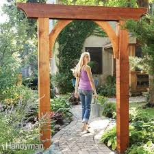 wedding arch blueprints build a garden arch family handyman