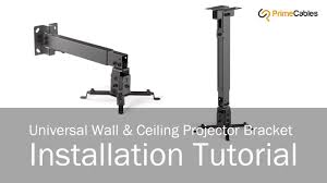Video Projector Ceiling Mount by How To Install Universal Wall U0026 Ceiling Projector Mount