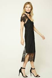 contemporary sheer lace dress forever21