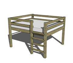 Free Designs For Bunk Beds by Free Diy Furniture Plans How To Build A Queen Sized Low Loft
