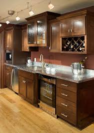 kitchen brown furniture for small kitchen and marble countertop
