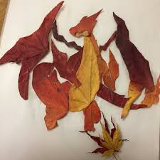 charizard made from autumn leaves x post r pokemon gaming