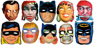 vintage halloween masks i remember some of them me wants it