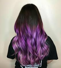 black hairstyles purple rooted hair colors to turn your head best color beautiful purple