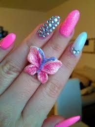 stiletto nail designs with rhinestones