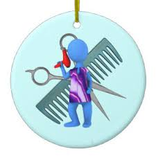 hairdressing salon tree decorations ornaments zazzle