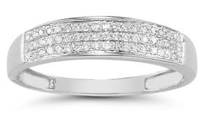 womens white gold wedding bands domed women s diamond wedding band in 14k white gold