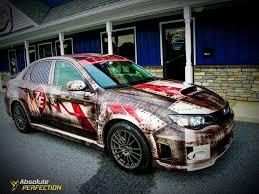 wrx subaru custom subaru impreza wrx zombie car wrap design pinterest subaru