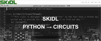 skidl use python to describe electrical connections export