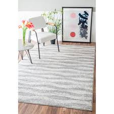 nuloom contemporary waves grey rug 8 u00276 x 11 u00276 overstock com