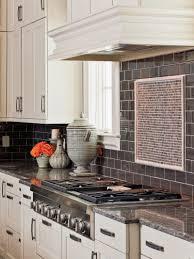 Kitchen Backsplash Stainless Steel Kitchen Style Stainless Steel Gas Range Hood And White Subway