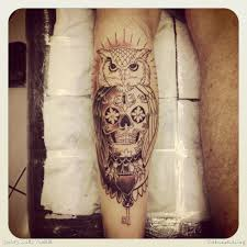 upper leg owl tattoo design in 2017 real photo pictures images