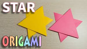 origami star how to make a paper folding star tutorial youtube