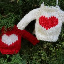 mini knit sweater ornament pattern cardigan with buttons