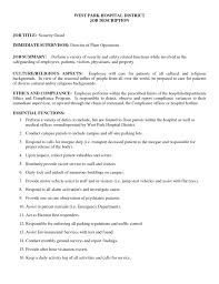 Job Description Of A Warehouse Packer Security Guard Job Duties For Resume Free Resume Example And