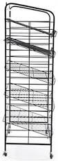 Bakers Rack With Wheels 5 Shelf Bakers Rack Adjustable Shelves U0026 2 Sign Holders