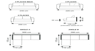 taille canapé 3 places dimension canape angle maison design wiblia com