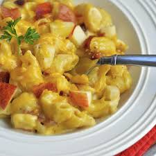 stove top macaroni and cheese with apples and bacon virtually