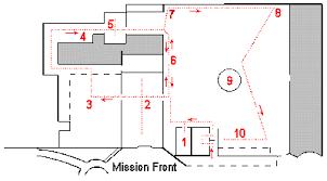 mission san diego de alcala floor plan mission san diego quadrangle missiontour