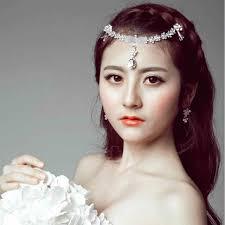 bijoux tete mariage cristal frontlet front tête chaîne de mariage de mariée bijoux