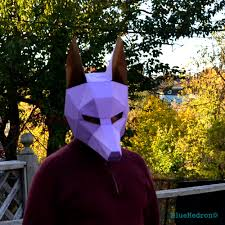 anubis mask halloween diy awesome paper party mask you make