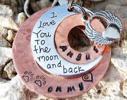 I Love You To The Moon And Back Personalized Necklace To The Moon And Back Print Etsy