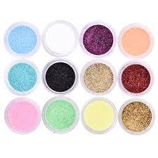 aliexpress com buy 12 colors set metal nail diy glitter kit