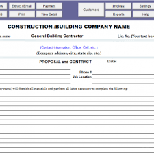 bid form bid proposal template for contractor amp construction