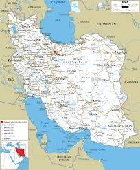 map iran detailed clear large road map of iran ezilon maps
