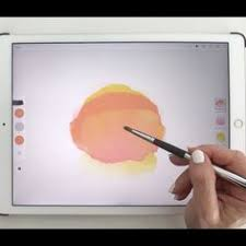 watercolor love app adobe sketch on an ipad pro using an