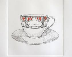 art deco teacup etsy