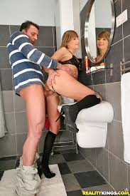Getting Fucked In The Bathroom Lovely Teen With Jessica Lux Gets Fucked In The Bathroom