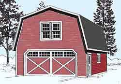 22x22 2 Car 2 Door Detached Garage Plans by New Page 4