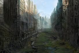 halloween post apocalyptic background art city ruin desolation postapokaliptika ruins apocalyptic post