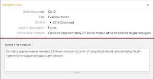 general international standard archival description isad g data