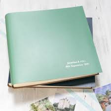 photo album large leather photo album by begolden notonthehighstreet