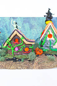 miniature halloween village halloween crafts haunted mini mansions babble dabble do