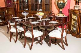 Antique Dining Room Table by Vintage Regency Style Dining Table And Six Antique Chairs At 1stdibs