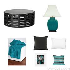 Decor With Accent Home Decor With Mirrored Coffee Table Lighting Knit Blanket And