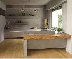 cuisine en béton ciré un plan de travail en béton ciré du béton dans la maison