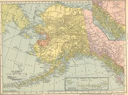 Alaska And Russia Map by Map Room At Alaskaweb