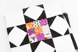Halloween Flannel Fabric Halloween Scrappy Sawtooth Quilt Simple Simon And Company