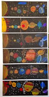 pens that write on black paper solar system art with pastels on black paper elementary art solar system art with pastels on black paper