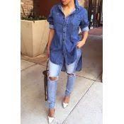 fashion o neck long sleeves sides split striped polyester knee