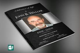 sle of funeral program black silver dignity funeral program publisher template