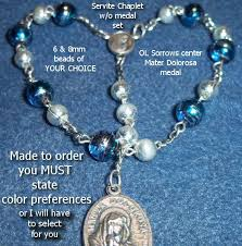 rosary of the seven sorrows chaplet of seven dolors catholic battlebeads