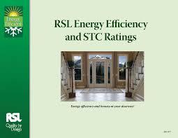 energy efficiency rsl doorglass